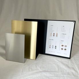 A3 A4 A5 골드 실버 블랙 메탈 POP 카페 메뉴판 디자인 제작