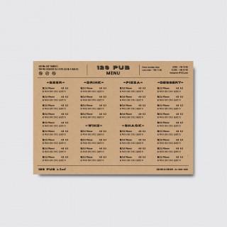 A4,A3 식당 레스토랑 호프집 술집 음식 디자인 인쇄 일러스트 메뉴판 [스노우지/36번]