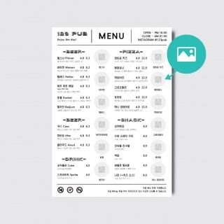 A4,A3 식당 레스토랑 호프집 술집 음식 디자인 인쇄 일러스트 메뉴판 [스노우지/37번]